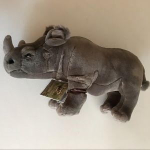 Webkinz Signature Black African Rhinoceros NWT